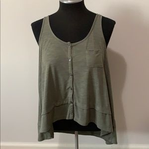 American Eagle Outfitters high low straps tank M